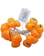 Halloween dynia sznur światełek 2,5 m LED duch łańcuch świetlny wisząca latarnia (bez baterii)