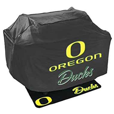 Mr. Bar B Q NCAA Grill Cover and Grill Mat Set, University of Oregon Ducks