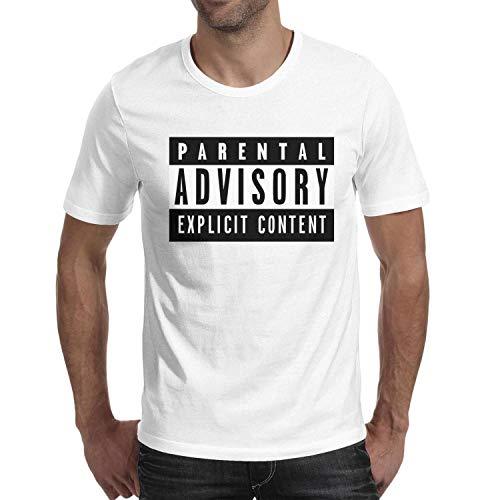 - Short Sleeve Man's Parental-Advisory-Logo- Tops Fitted tee Shirt
