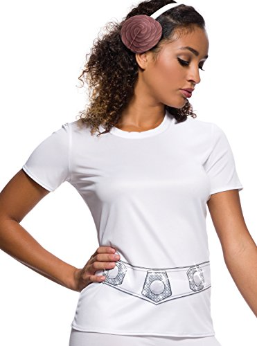 Rubie's Adult Star Wars Princess Leia Rhinestone Costume T-shirt, Medium -