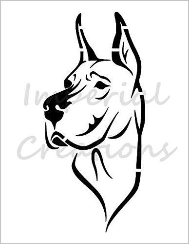 - GREAT DANE Dog Breed Face 8.5