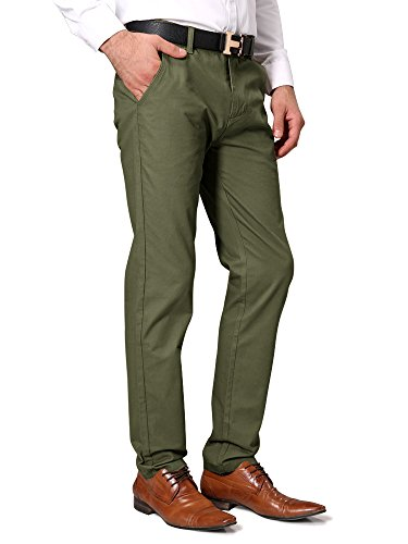 OCHENTA Casual Tapered Flat Front Pants product image