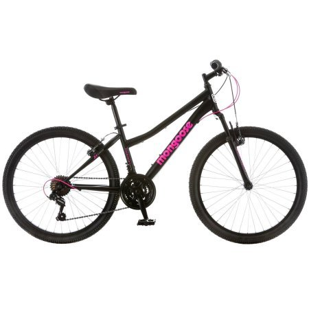 24'' Mongoose Excursion Girls' Mountain Bike, Black/Pink by Mongoose
