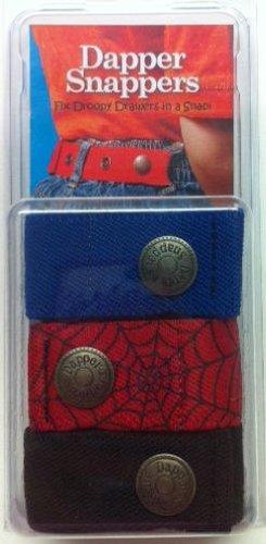 Dapper Snapper Baby & Toddler Adjustable Belt 3 Pack ~ Royal Blue, Spiders & ()
