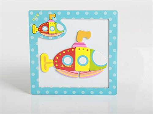 Sevenpring Child Learning Puzzle Wooden Magnetic Peg Puzzle Safe Education Learning Toy Fantastic Gifts for Kids(Submarine) ()
