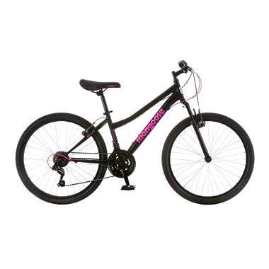 24  Mongoose Excursion Girls' Mountain Bike, Black/Pink