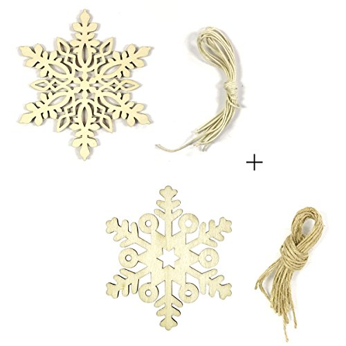 Wrapables Wooden Snowflake Hanging Ornament Christmas Décor (Set of (Blank Christmas Ornament)