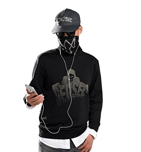 Elegant Men's Watch Dog 2 Marcus Holloway Pullover Sweater Cosplay Costumes (Tag M-Chest(40.9