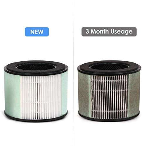 PARTU Filtre HEPA - Charbon Actif, BS-08 Filtre Purificateur d'air, Filtration de 99,98%, 165 * 166mm