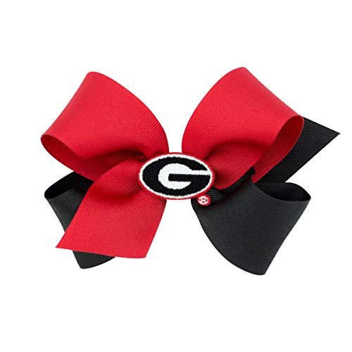 (Wee Ones Medium Size Two Tone Collegiate Girl's Hair Bow)