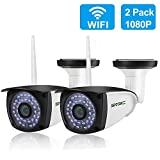 [New 2 Pack] WiFi Camera Outdoor, SV3C 1080P HD Two Way Audio Security Camera, Motion Detection Surveillance CCTV Cameras, IR LED Night Vision IP Cameras for Indoor Outdoor, Support Max 128GB SD Card