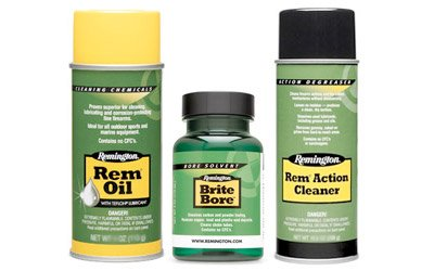 (Remington Cleaning Combo Lube/Cleaner Liquid 10oz Oil/6oz Brite Bore/10oz Action Cleaner Aerosol Can)