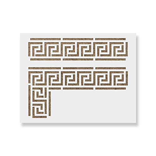 Greek Key Stencil Template for Walls and Crafts - Reusable Stencils for Painting in Small & Large Sizes ()