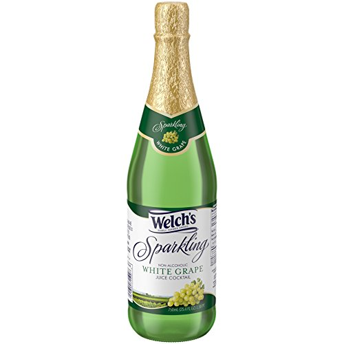 (Welch's Sparkling Juice Cocktail, Non-Alcoholic, White Grape, 25.4 Ounce (Pack of 12))