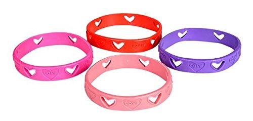 24 Heart Cut Out Love Bracelets - Valentine Party Favors