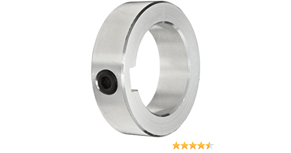 """1-PC Solid Steel Zinc Plated SC125Z 1-1//4/"""" Set Screw Shaft Collar 6-PACK"""