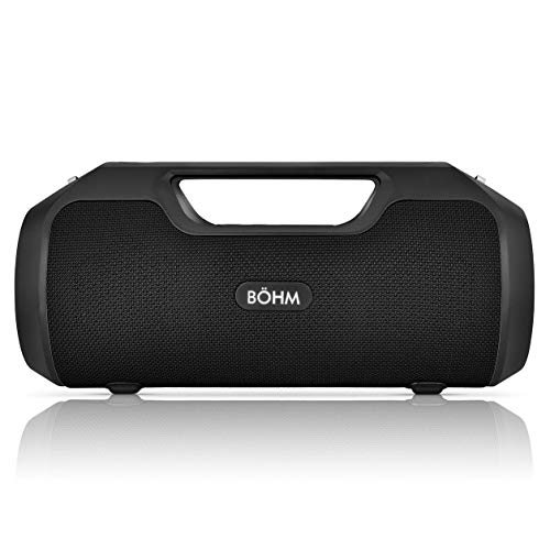 BÖHM Impact Plus Wireless Bluetooth Speaker Water Resistant IPX4 40W Premium HD Sound Powerbank Dual Pairing TWS Stereo – Black