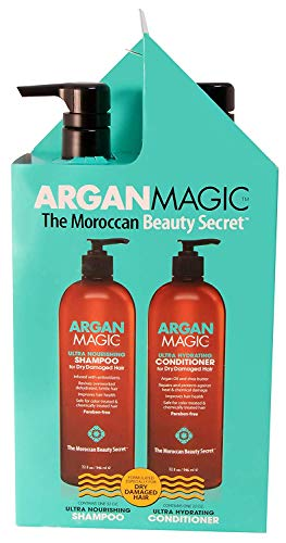 - Argan Magic Ultra Shampoo and Conditioner Duo for Dry and Damaged Hair (32 oz)