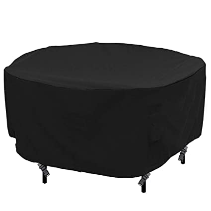 Patio Round Table and Chair Set Cover Outdoor Furniture Cover with Water Resistant and Durable Fabric, 76