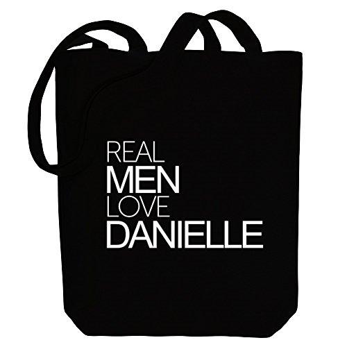 Idakoos Real men love Danielle - Weibliche Namen - Bereich für Taschen