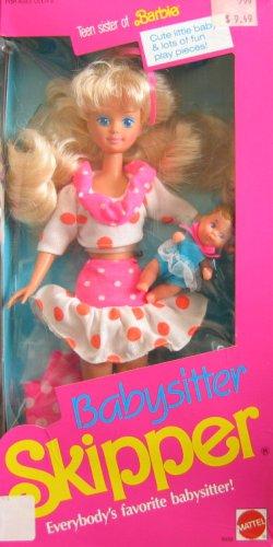 Barbie Babysitter SKIPPER Doll (1990) (De Radio Barbie)