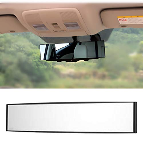 - Euone ♛ Curved Mirror, 1PC 300mm Wide Curve Inner Clip On Rear View Rearview Mirror Universal Car Truck