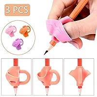 مقبض أقلام 3 قطع Dailychic ، حامل أقلام للأطفال للتدريب المريح على الكتابة اليدوية، أدوات تدريب تصحيح وضعية الجلوس (وردي…
