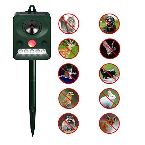 FOCUSPET Ultrasonic Animal Repeller, Solar Powered Repellent