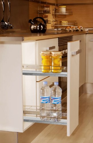 "Spice Rack Pull-out: Chrome (7.8"" Double Basket)"