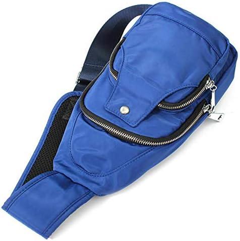 レディースメンズナイロンチェストバッグスポーツ防水クロスボディバッグカジュアルアウトドアバッグ YZUEYT