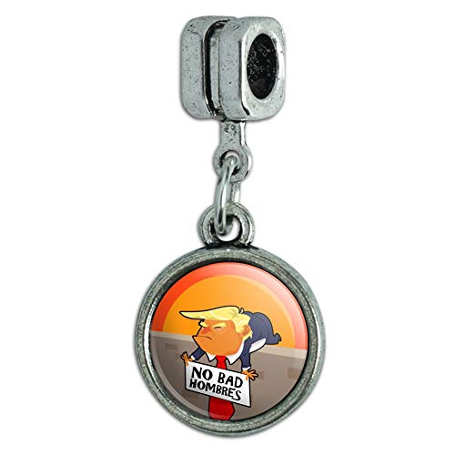 GRAPHICS MORE No Bad Hombres President Donald Trump On Wall Italian Bracelet Charm Bead