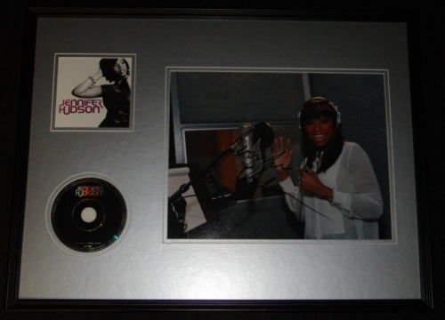 Jennifer Hudson Signed Framed 18x24 CD & Photo Display