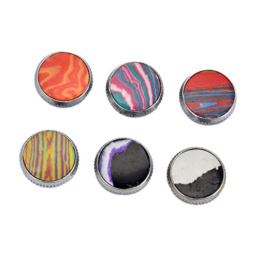 Baosity 6 Pcs Saxophone/Trumpet Key Buttons Decorate Accessory for Musical Lovers 0.63x0.33x0.19inch by Baosity