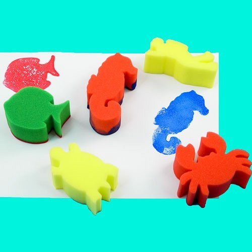 Anthony Peters Sea Life Sponge Painting Set (Pack of -