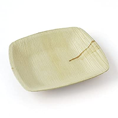 Leaftrend - Ecofriendly disposable palm leaf plates, wedding and party plates -Square plate...