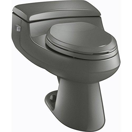 Kohler K-3597-58 San Raphael Comfort Height Pressure Lite 1.0 gpf Elongated Toilet, Thunder Grey ()