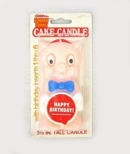 - Wilton Porky Pig Birthday Cake Candle