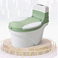 Baby Potty Training Seat Green for Toddler Children Kids Small Toilet with Removable Inner Potty, Non-Slip Pads
