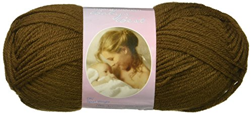 """Crochet Patterns Afghan Free (Mary Maxim Baby's Best Yarn """"Cocoa"""" 