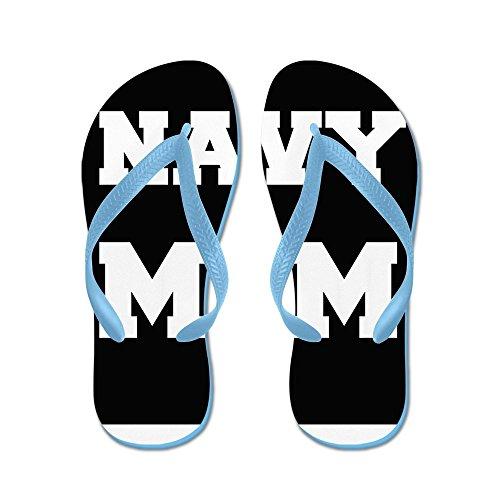 Cafepress Marine Moeder - Flip Flops, Grappige String Sandalen, Strand Sandalen Caribbean Blue