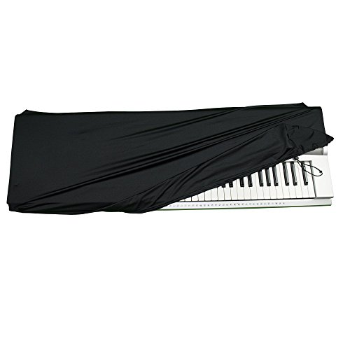Stretchable Keyboard Dust Cover for 61 & 76 Key-keyboard: Best for all Digital Pianos & Consoles - Adjustable Elastic Cord; Machine Washable - FREE Piano Chords Ebook - 41