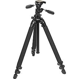 SLIK Pro 400DX Tripod Legs - with 3-Way Pan/Tilt Quick Release Head, Black (615-400)