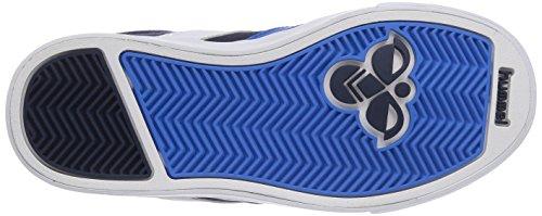 hummel HUMMEL STADIL JR CANVAS LO - zapatilla deportiva de lona niño azul - Blau (Dress Blue / Brilliant Blue 0553)