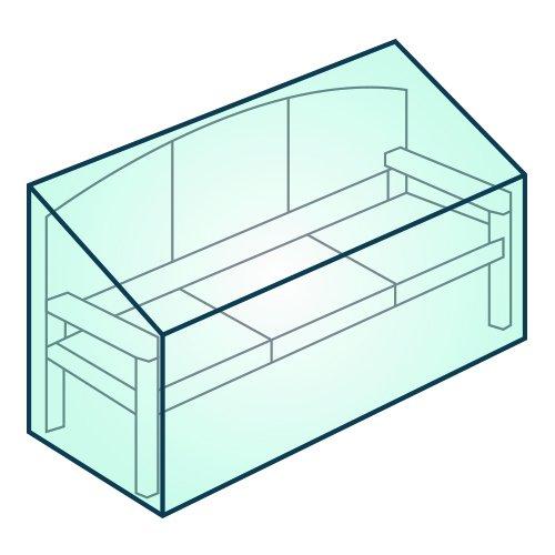 3 Seater Garden Bench Cover - Garden Furniture Cover – Tarpaulin Cover or Weatherguard Treated Woven Polyester (Premium – Weatherguard treated woven polyester) Garden Pride