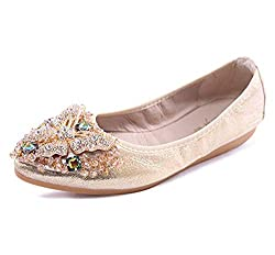 Women's Foldable Sparkly Rhinestone Shoes