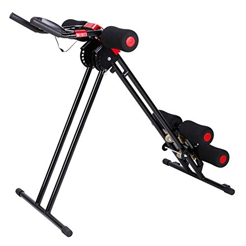 Rainrain27 Straight Linear Type Powerful Private Fitness Club Abdomen Exerciser Vertical Abdominal Machine Beauty Waist Machine for Office Home Black and Red by Rainrain27 (Image #7)