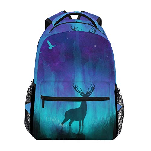 Stylish Neon Deer Backpack- Lightweight School College Travel Bags, ChunBB 16