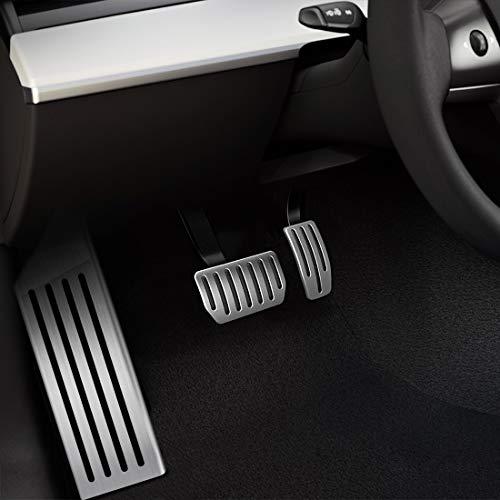 Foot Pedal Pads Cover Set for Tesla Model 3 3pack Rest + brake + throttle Accelerator Gas /& Brake /& Foot Rest Foot Pedal Pads Anti-Slip Aluminum
