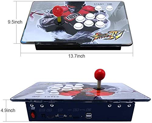 XFUNY Arcade Game Console 1080P 3D & 2D Games 2350 in 1 Pandora's Box 2 Players Arcade Machine with Arcade Joystick Support Expand 6000+ Games for TV / Laptop / PC / PS4 by XFUNY (Image #5)