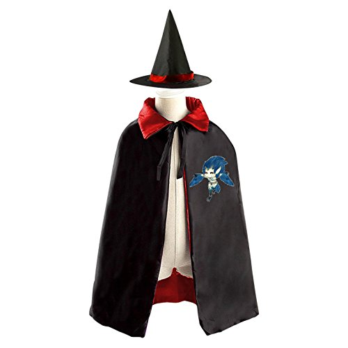 WOW Kid Halloween Cloak Vampire Cape Witch Hat Cosplay